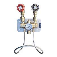 青铜蒸汽冷水混合器